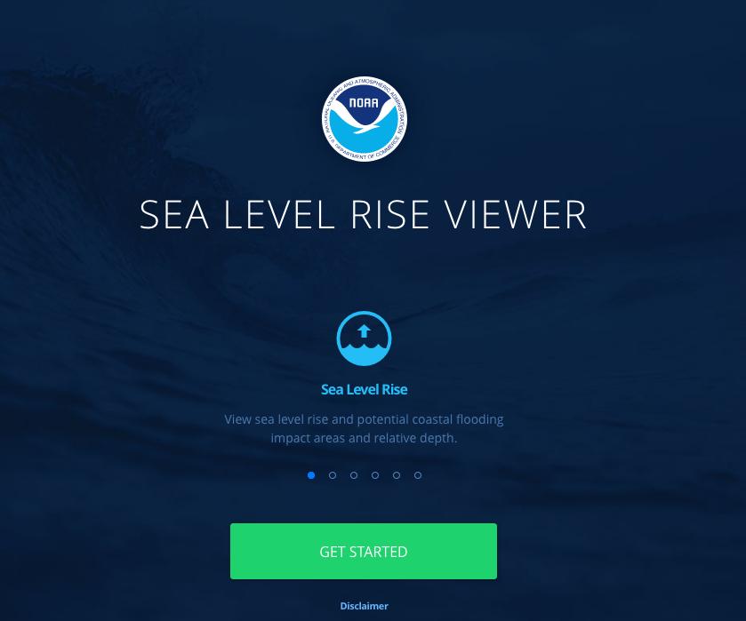 NOAA Sea Level Rise Viewer Screen Capture