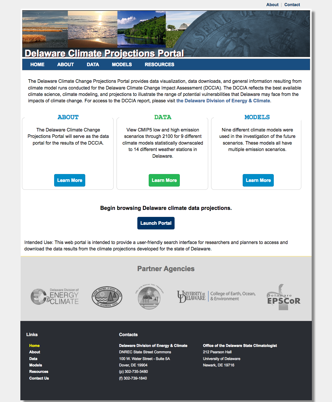 Delaware Climate Projection Portal